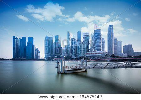 Marina bay, Singapore city skyline, Singapore city