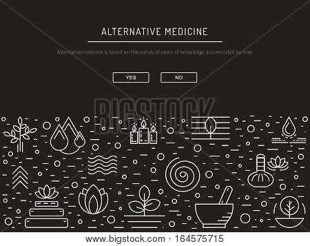 Vector image characters of alternative medicine. Ayurvedic body types. Holistic lifestyle and harmony with nature.