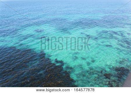 crystal, clear, blue water along Australia's coastline
