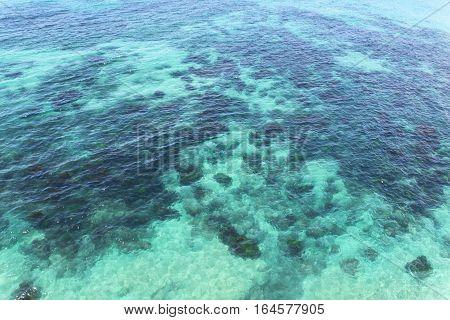 Crystal clear water along Australia's ocean coastline
