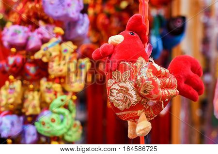 Chinese new year decorations. Chinese year fo the rooster.