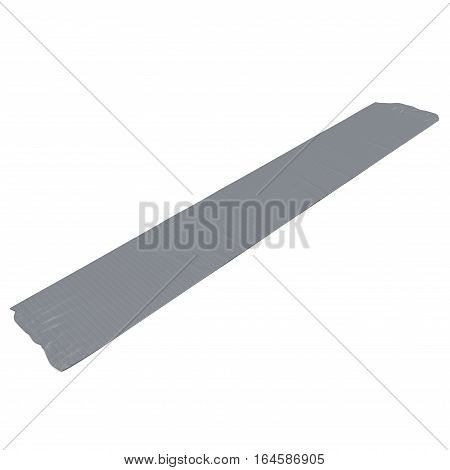 duct tape piece close up isolated on white background. 3D illustration