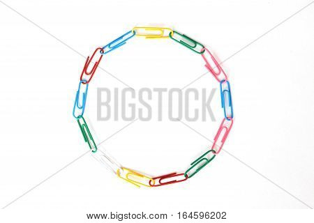 Ring Made Of Various Paper Clips Meaning Diversity And Multiculturalism