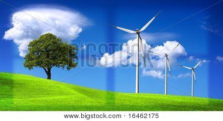 Environment - clean energy concept