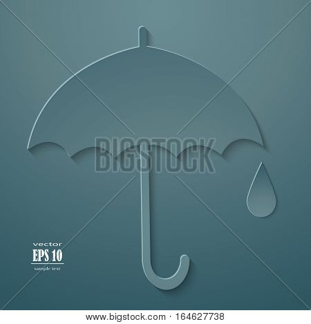 Vector umbrella icon rain graphic handle meteorology