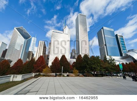 Millennium Park In Downtown Chicago