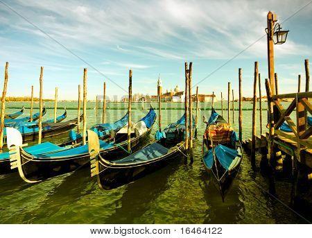 Gondola parking, Venice