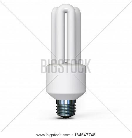 light bulb on white background 3D rendering