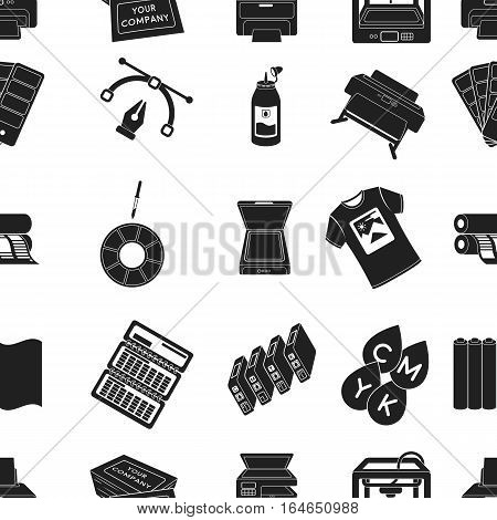 Typography pattern icons in black style. Big collection of typography vector symbol stock