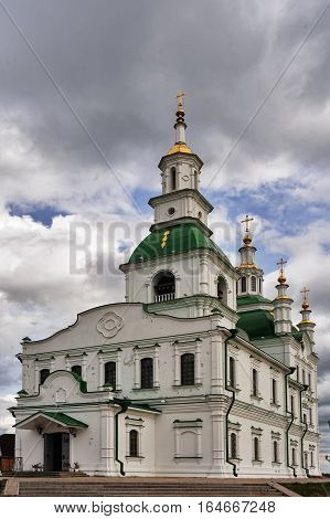 Yalutorovsk Sretensky cathedral. Church was demolished at 1931. It is newly restored in 2009. Siberia. Russia