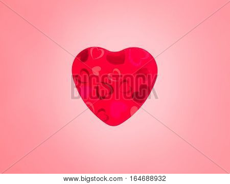 Love heart thumping beating on white background. Animation of red love heart thumping beating used to symbolize amour romance or a passion filled romantic valentines day
