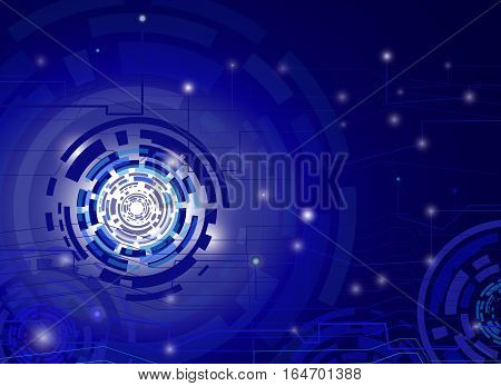 Abstract background circuit connection concept dot element Hi-tech digital and engineering telecoms technology vector illustration.