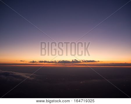 Sunrise sky background shooting on the mountain