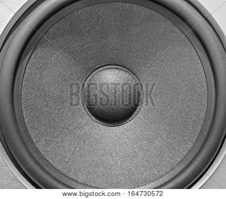 speaker dynamic close-up. Element of speaker system