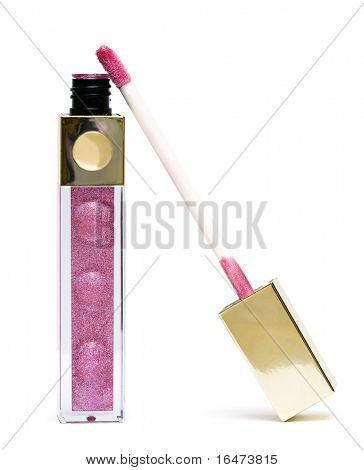 pink beautiful gloss for lips
