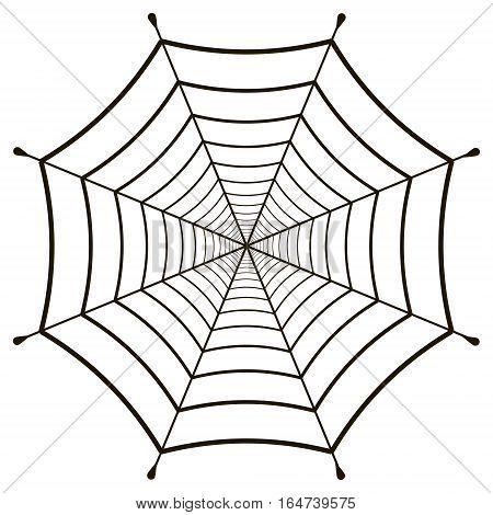 cobweb, spiderweb  gossamer on white background, vector web