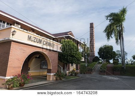 LABUAN, NOVEMBER 2016 Chimney Information Center's building is located on the historical site of the Chimney Historical Museum in Tanjung Kubong, known during the British occupational period as Cool Point.