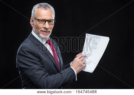 Businessman Holding Papers
