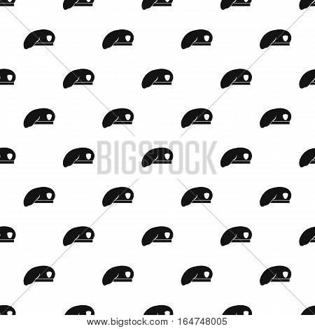Military beret pattern. Simple illustration of military beret vector pattern for web