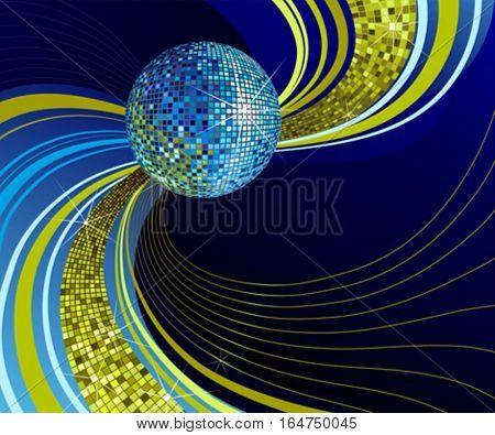 Shiny disco ball. Vector illustration.