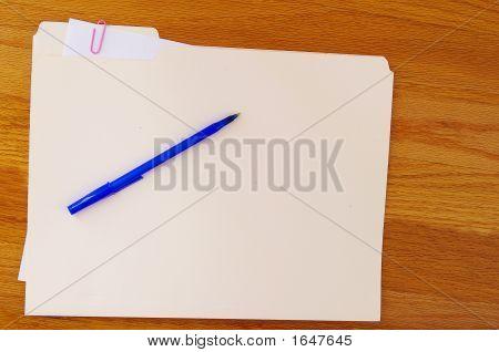 Folder And Pen