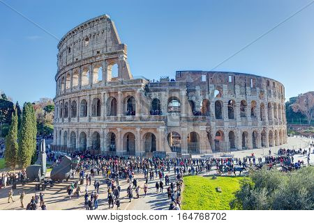 The Colosseum,  the largest amphitheatre ever built, Rome, Italy