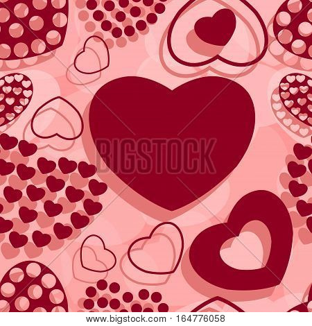 St. Valentine's seamless pattern. Love. Vector illustration.