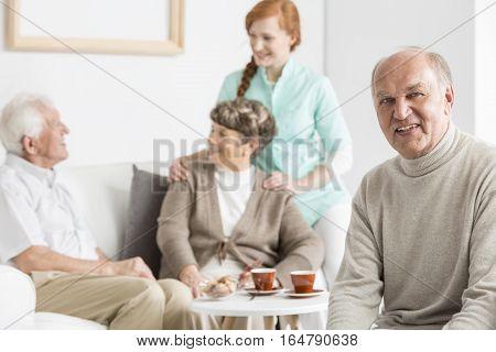 Smiled Seniors At Nursing Home