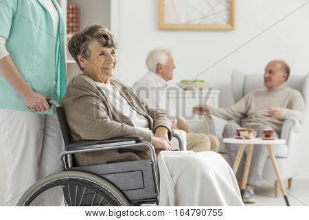 Seniors At Recreation Room