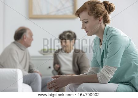 Nurse At Retirement Home