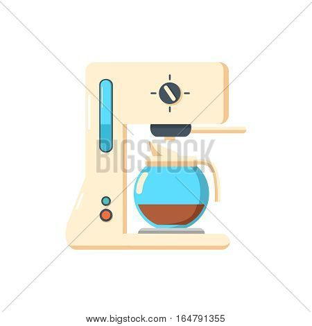 coffee machine isolated icon. coffe maker background. A vintage looking coffee machine is making a coffee on white background