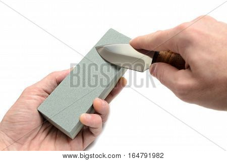 sharp knife and accessories for sharpening blades