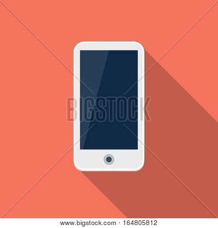 Smartphone  flat icon, design element for mobile and web applications, eps 10