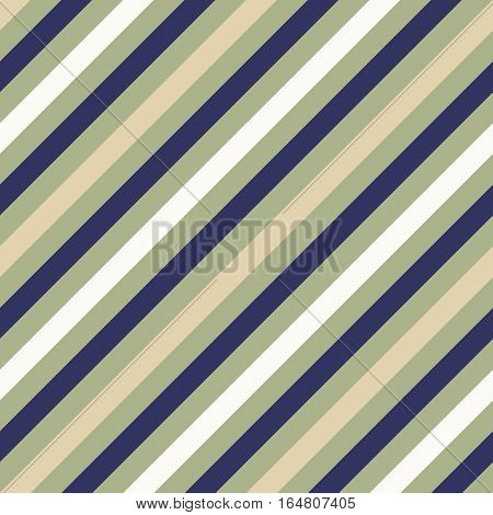 Seamless geometric pattern. Stripy texture for neck tie. Diagonal contrast strips on background. Gray, olive, beige soft colors. Vector