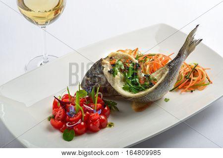 Roasted Sea Bass.