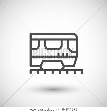 Train line icon isolated on grey. Vector illustration