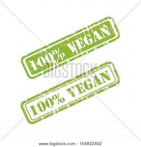 VEGAN grunge stamp sign vector red. Color is easily changed.