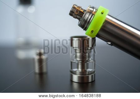 Parts Of E-cigarette. Electronic Nicotine Delivery Systems. Ends. Rebuildable Dripping Atomizer (rda