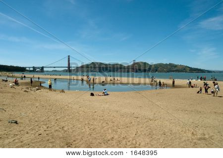 Beach By The Golden Gate