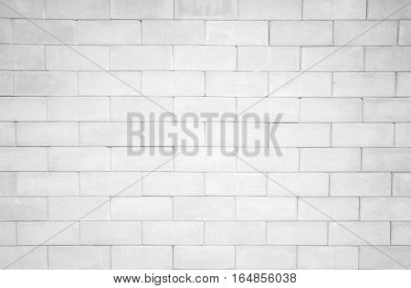 The pattern of white brick wall background.