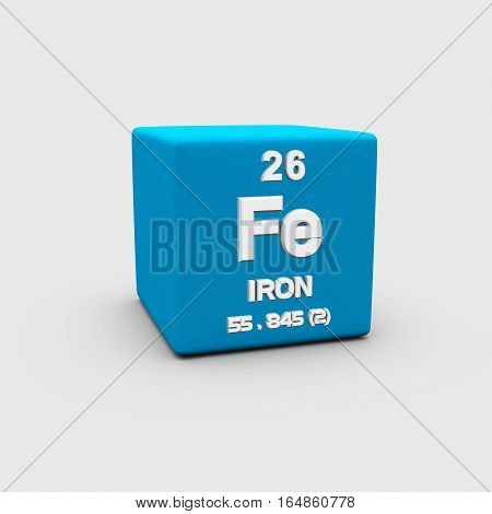 Iron is a chemical element with symbol Fe and atomic number 26