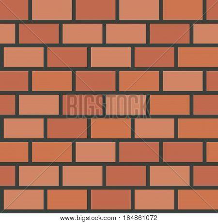 Vector brick wall tile seamless pattern. Background tile texture illustration