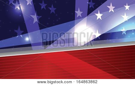 Vector Abstract American Patriotic Festive Background Eps 10 Transparency used