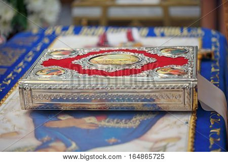 Church supplies for wedding ceremony in the Orthodox Church