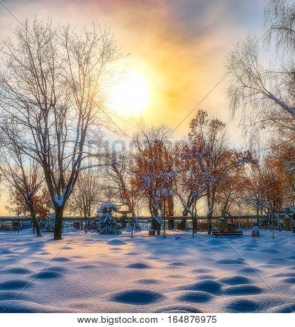 Chilling evening in park, Giurgiu city, Alei park, Romania