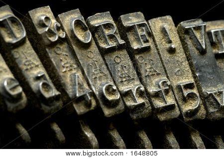 Old Dusty Typewriter Detail Macro