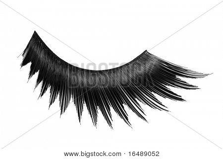false eyelashes on white background