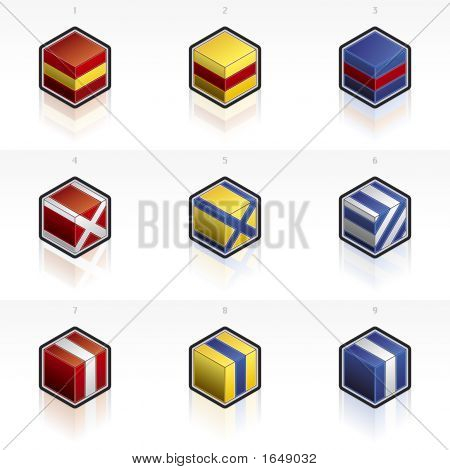International Maritime Flags Icons Set 58J