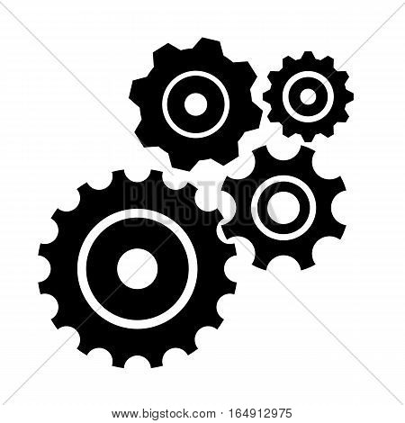 Black gears, cogs and wheels for your design