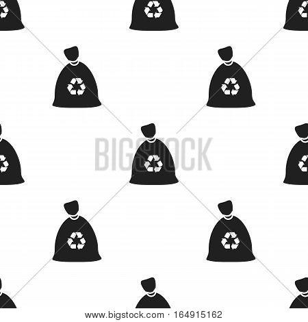 Garbage bag black icon. Illustration for web and mobile.